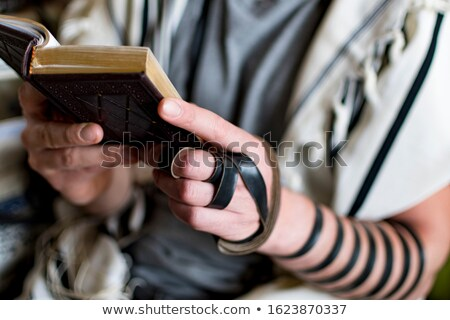 Close up of a young  jewish man with book Stock photo © get4net