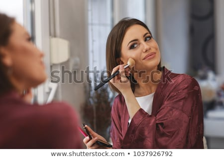 aantrekkelijke · vrouw · make-up · ruimte · badkamer · huid · vrouwelijke - stockfoto © photography33