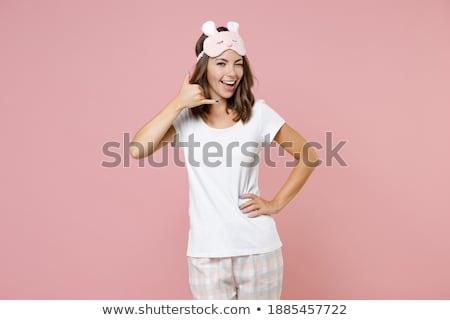 telephoning woman wearing underwear stock photo © phbcz