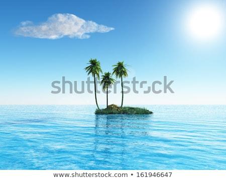 zeegezicht · klein · eiland · dubrovnik · heuvels · water - stockfoto © saddako2