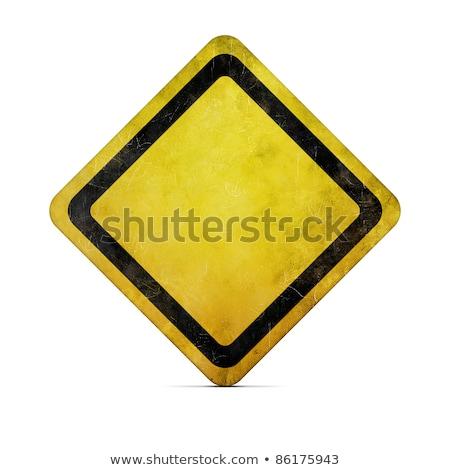 yellow empty sign Stock photo © kyolshin
