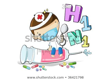 Porco gripe gripe injeção h1n1 vacina Foto stock © lunamarina