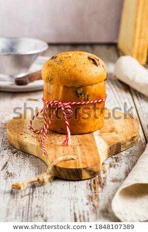 Italian Christmas composition with panettone Stock photo © aladin66