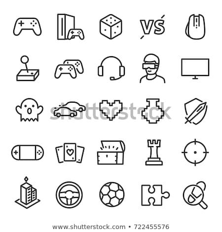 Stockfoto: Icon · spel · speler · vruchten