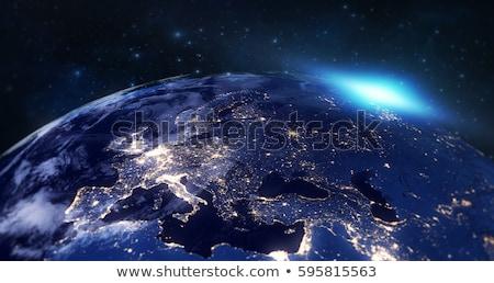Azul esfera borde resumen luz signo Foto stock © silense