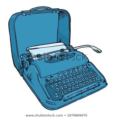 Customize Key on Grunge Typewriter. Stock photo © tashatuvango