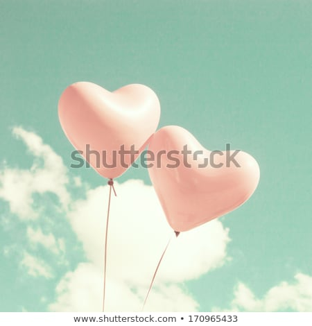 Retro Pink Heart on Turquoise Stock photo © frannyanne