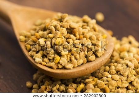 Bee пыльца ткань продовольствие древесины Сток-фото © marimorena