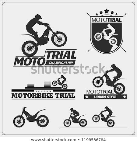 Trials Motorcycle Stock photo © derocz