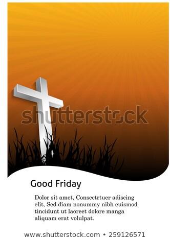 Beautiful card for good friday brochure template Cross vector Stock photo © bharat