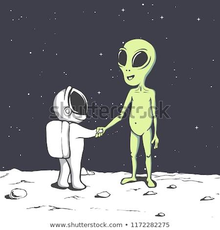 Friendly Aliens Meeting Stock photo © blamb
