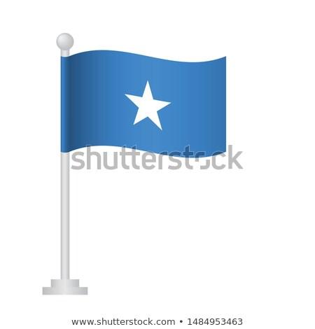 Somalia Small Flag on a Map Background. Stock photo © tashatuvango