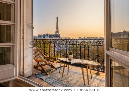 広い · 通り · パリ · 道路 · 美しい · アーキテクチャ - ストックフォト © hofmeester
