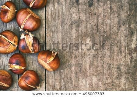 Süß Holz alten verwitterten Herbst fallen Stock foto © olandsfokus