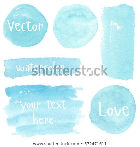 blue circle watercolor banner vector illustration stock photo © gladiolus