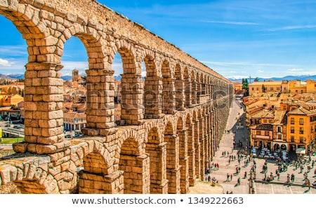 aqueduct of segovia spain stock photo © nito