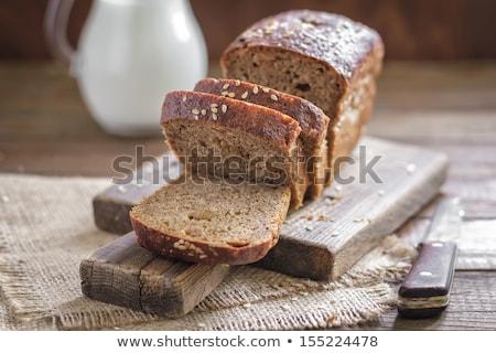燕麦 食事 パン 全体 背景 白 ストックフォト © ivonnewierink