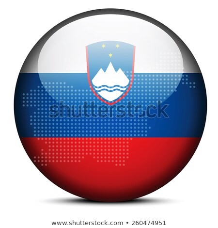 Map with Dot Pattern on flag button of Republic Slovenia Stock photo © Istanbul2009