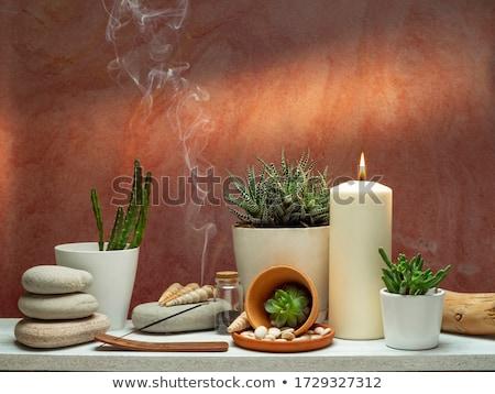 Wierook kaarsen witte Stockfoto © joker