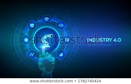 technológia · virális · robotikus · kéz · vírus · ragályos - stock fotó © idesign