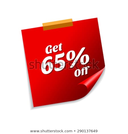 Get 65 Precent Off Red Sticky Notes Vector Icon Stock photo © rizwanali3d