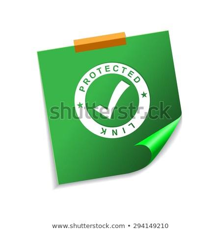 proteger · transação · verde · notas · vetor · ícone - foto stock © rizwanali3d