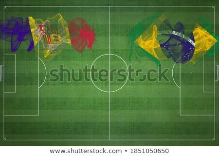 Brésil Andorre drapeaux puzzle isolé blanche Photo stock © Istanbul2009
