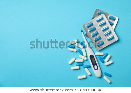 elektronikus · hőmérő · kilátás · afroamerikai · orvos · tart - stock fotó © ruslanomega