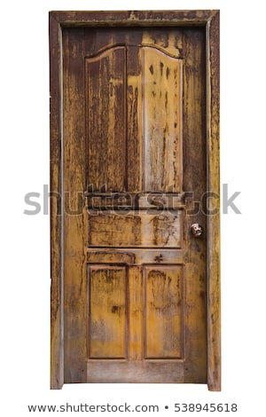 Oude deur Blauw deuren aantal witte Stockfoto © trexec