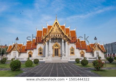 Thai buddhista templom Phuket Thaiföld fák Stock fotó © smithore