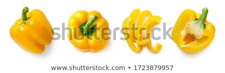 sarı · biber · yalıtılmış · beyaz · arka · plan · yeşil - stok fotoğraf © teerawit