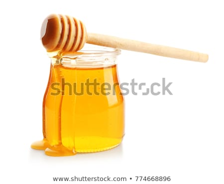 miele · isolato · jar · piccolo · a · nido · d'ape - foto d'archivio © jordanrusev