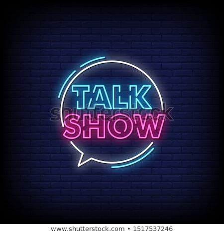 retro talk show stock photo © sahua
