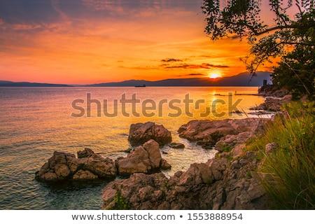 ゴージャス 日没 海岸 空 自然 海 ストックフォト © vlaru