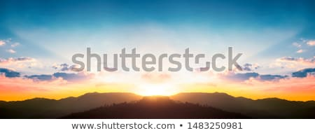 Sunbeam in mountains Stock photo © Kotenko