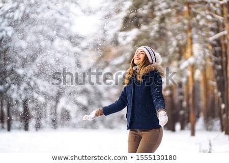 Sevinç çekici kadın eller gülümseme Stok fotoğraf © fotorobs