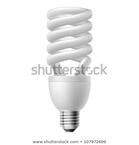 Energia takarékosság villanykörte spirál lámpa fehér Stock fotó © fotoquique