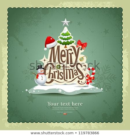Vintage Christmas Card Eps 10 Stok fotoğraf © Sarunyu_foto
