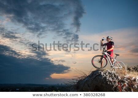 Sport man mountainbike gelukkig fitness Stockfoto © Kzenon