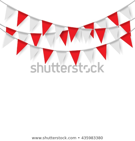 Red and White Bunting Stock photo © Bigalbaloo