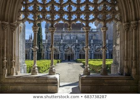 Manastır bölge Portekiz ağaç şehir kilise Stok fotoğraf © benkrut