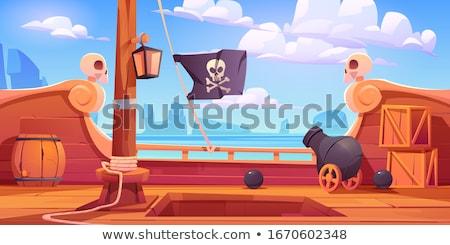 Barrel with skull and bones. Stock photo © RAStudio