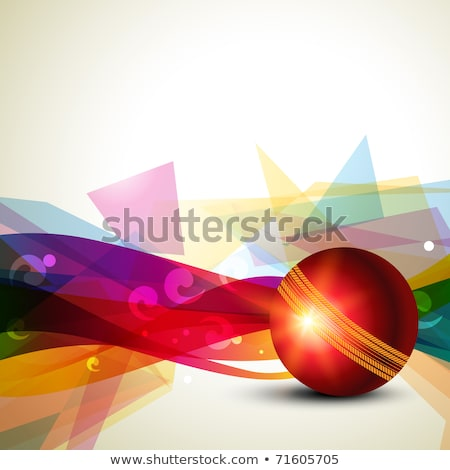 Abstract Artistic Colorful Cricket Ball Stockfoto © PinnacleAnimates
