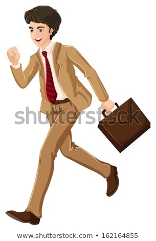 A businessman walking hurriedly with an attache case Stock photo © bluering