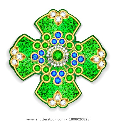 Diamond precious cross, vector illustration Stock photo © carodi