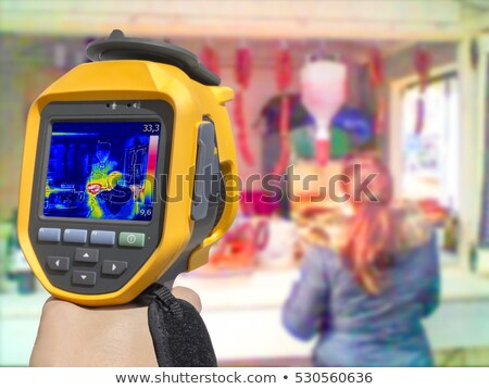 Recording with Thermal camera street stand selling food Stock photo © smuki