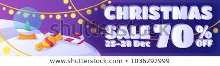 Mesés vásár szalag poszter sablon promóció Stock fotó © SArts