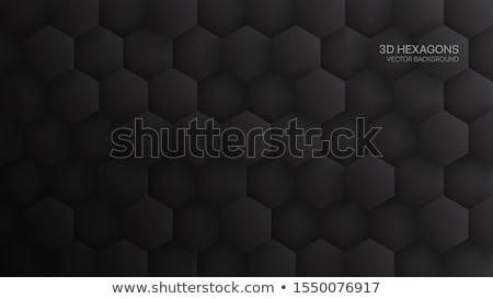 Absztrakt hatszög sötét fények egészség háttér Stock fotó © Tefi