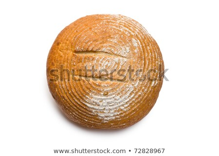Stock photo: Crusty round loaf of bread