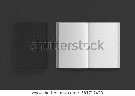 Closed and open black book Stock photo © romvo